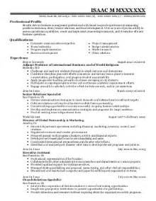 Community Health Sle Resume by Health Resume Exles Community And Service Resumes Livecareer