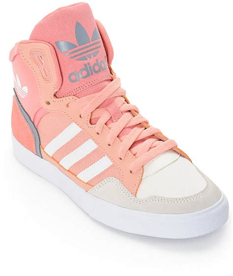adidas pink sneakers adidas extaball dust pink shoes at zumiez pdp
