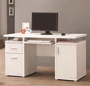 Computer Desk For Office Furniture White Desk With Drawers And Shelves For House And Office Equipment Founded Project
