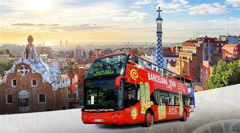 barcelona hop on hop off barcelona hop on hop off bus pass with audio guide klook