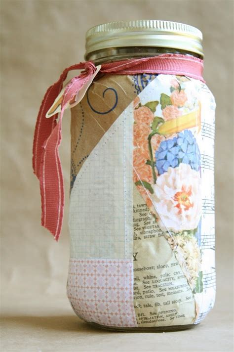 How To Decoupage Glass Jars - decoupage glass jar products i