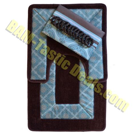 Blue And Brown Bathroom Rugs by Galleon Brown And Blue 15 Bathroom Set 2 Rugs