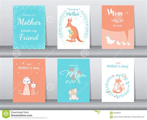 animal cards template clear set of animals poster template cards cats vector