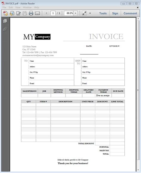 pdf form templates how to make a custom invoice template