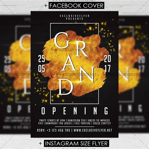 premium flyer templates grand opening premium a5 flyer template exclsiveflyer