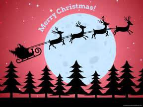 merry christmas santa claus background powerpoint background