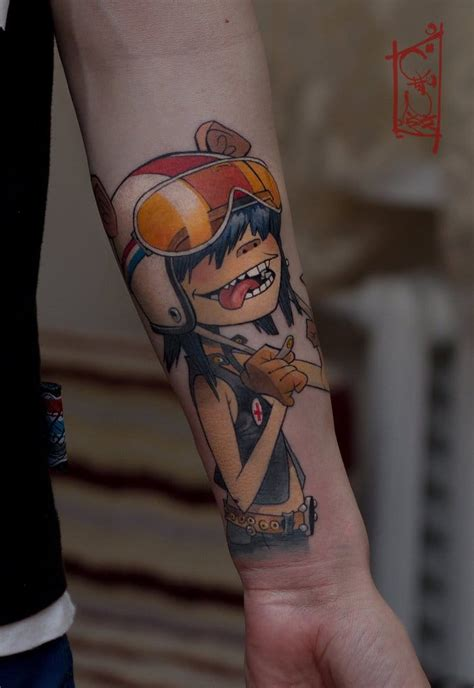 noodle tattoo 15 gorillaz tattoos that will give you the feel inc
