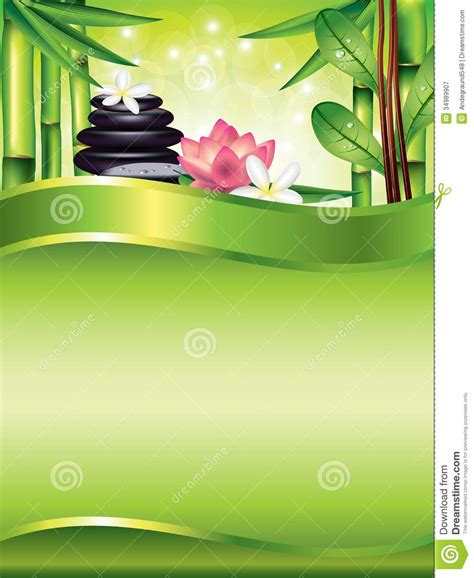 spa treatment vertical vector background royalty free
