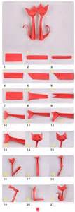 Paper Origami Cat - origami origami cat and cats on