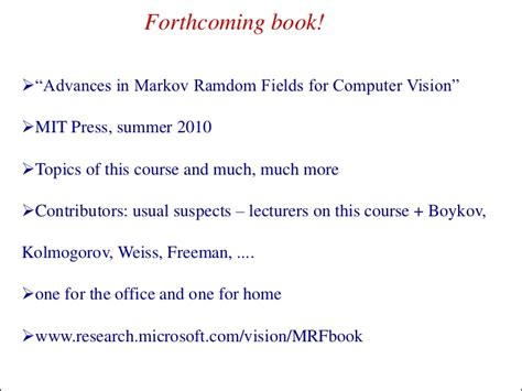 Computer Vision Models Learning And Inference Ebooke Book iccv2009 map inference in discrete models part 1 introduction