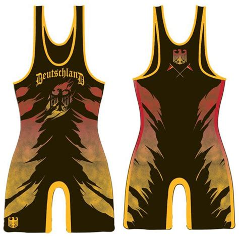 Singlet Earned Not Given brute germany sublimated singlet international