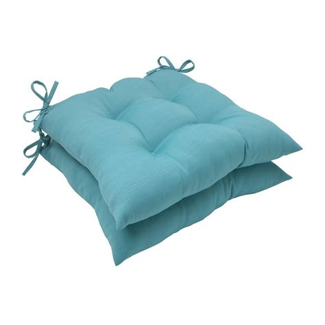 Shop Pillow Perfect Solid Turquoise Universal Seat Pad at