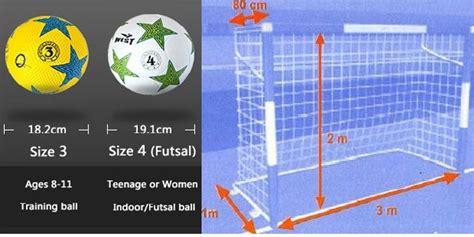 ukuran bola futsal  ukuran gawang futsal standar fifa
