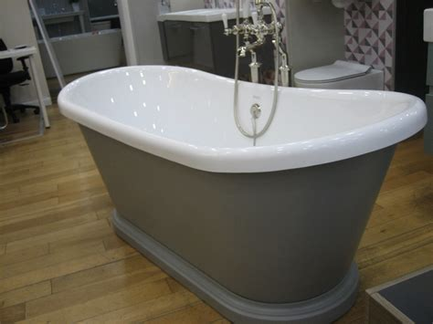 boat bathtub bc designs 1580 x 750mm brassica 271 grey acrylic boat bath