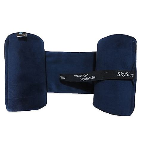 bed bath and beyond travel pillow buy skysiesta travel pillow in blue from bed bath beyond