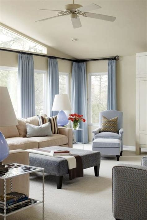 Blue Curtain Designs Living Room Inspiration Cool Blue Living Room Ideas