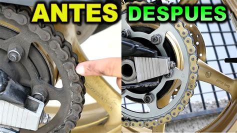 cadena de moto limpieza como revivir cadena de moto lubricacion y limpieza serie