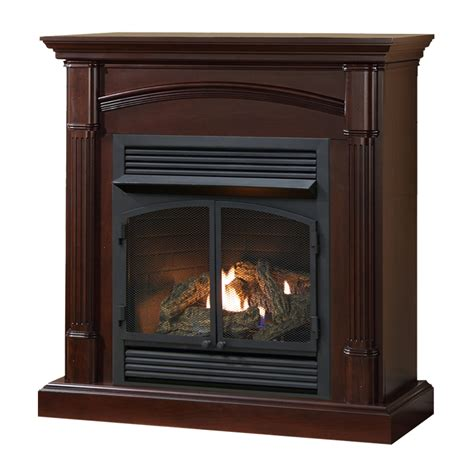 ventless fireplace system warm clove finish 32 000 btu