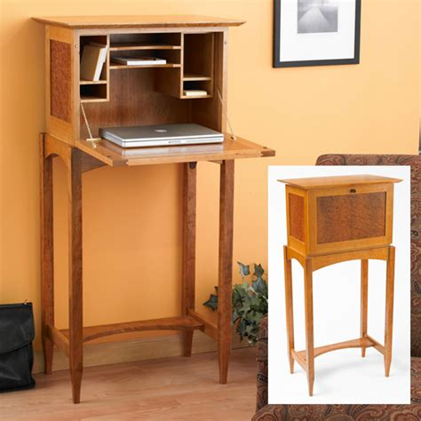 drop front desk woodworking plan  wood magazine