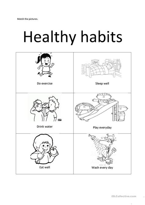 printable coloring pages healthy habits healthy habits worksheet free esl printable worksheets