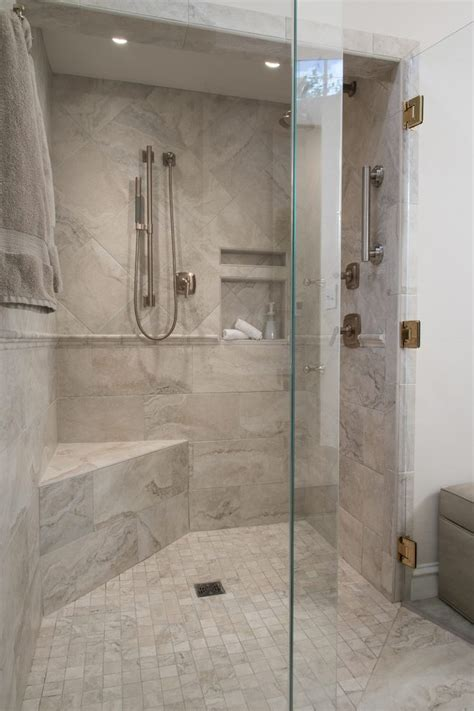 st louis built  shower bench bathroom traditional