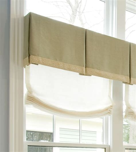 curtain box valance linen box pleat valence house projects pinterest