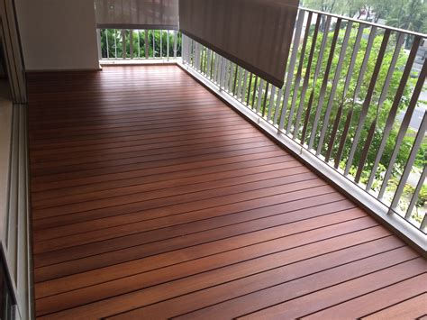 Deck Flooring by Balcony Decking In Singapore The Floor Gallery