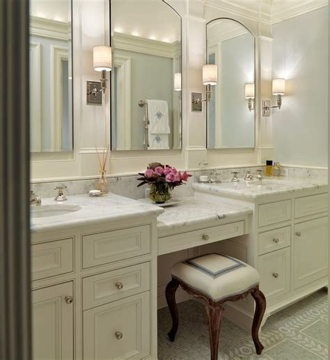 bathroom vanities with makeup table bathroom vanities makeup area style guru fashion glitz glamour style unplugged