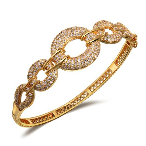 2015 latest bridal jewelry bangle 18k gold bracelet bangles luxury women's styles wedding party