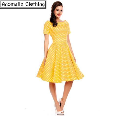 pinup swing dress dolly and dotty yellow marlene swing dress vintage 1950s