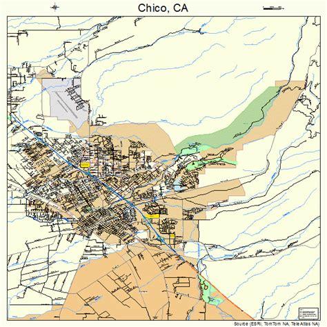 california map chico chico california map 0613014