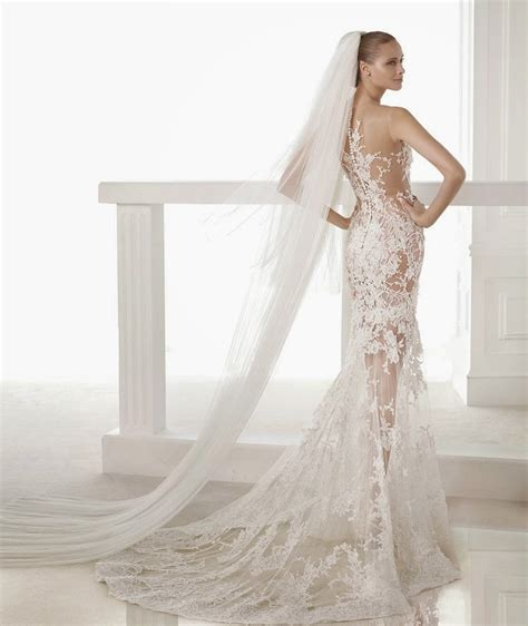 Mermaid Lace Wedding Gown 2015 wedding dresses lace mermaid gowns by pronovias