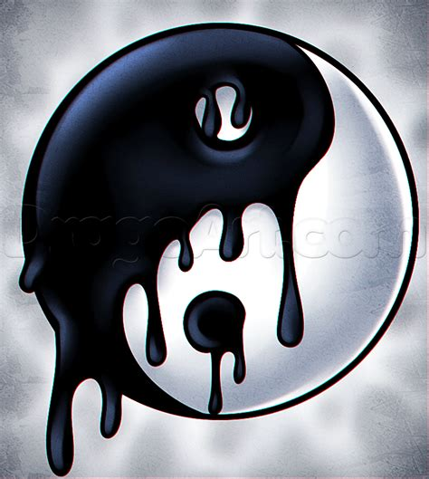 Ying Yang Drawing how to draw a melting yin yang step by step symbols pop