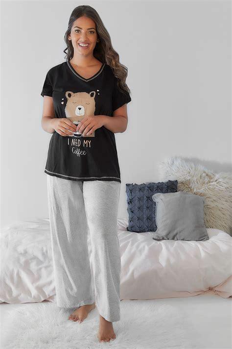 google images basic version grey basic cotton pyjama bottoms plus size 16 to 32