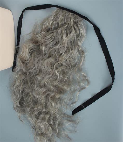 grey hair drawstring ponytail grey hair drawstring ponytail foxy silver synthetic