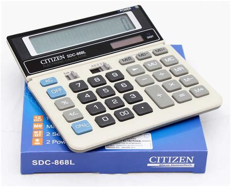 Kalkulator Citizen 12 Digit Calculator Berhitung Citizen Sdc 868l kalkulator citizen sdc 868l kalkulator terlengkap axiqoe