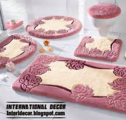 Latest models of bathroom rugs and rug sets