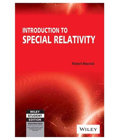 introductory special relativity books introduction to special relativity paperback