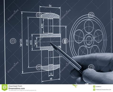 blueprint designer cad design stock image image of built contractor frame