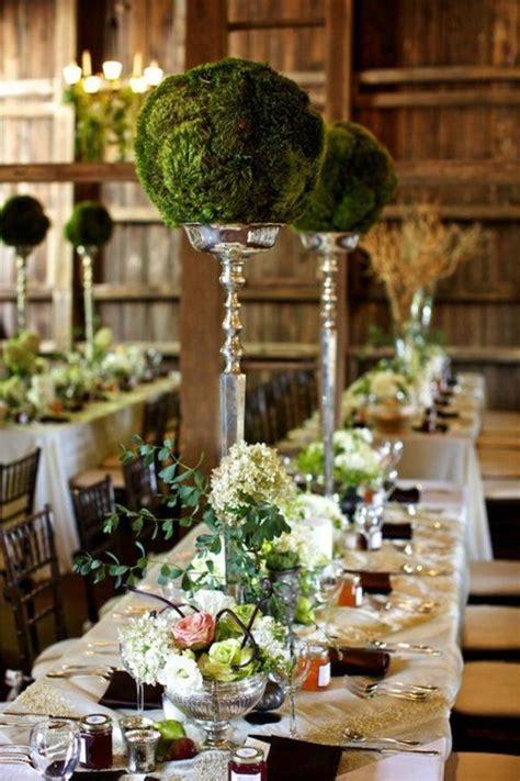 gorgeous garden theme party garden moss green greenery tablescape centerpieces