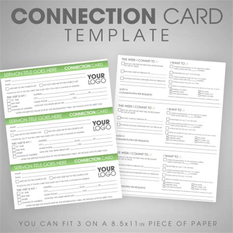 free church connection card template ministry marketplace all church resources