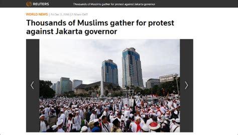 Lu Sorot Di Jakarta media asing ramai sorot aksi damai 2 desember di