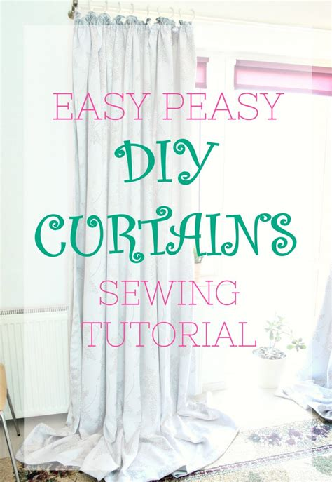 curtain stitching tutorial diy curtains easiest sewing tutorial for beginners