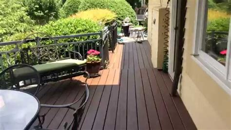 deck  olympic russet stain youtube