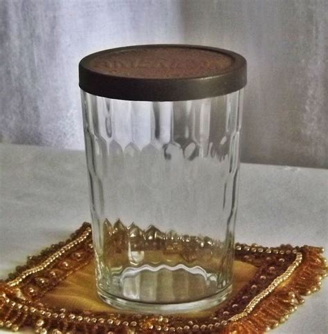 How To Drill A Hole In A Glass Vase Vintage American Snuff Glass Jar With Metal Lid