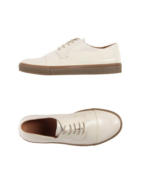 dries noten lace up shoes in white for ivory save 36 lyst