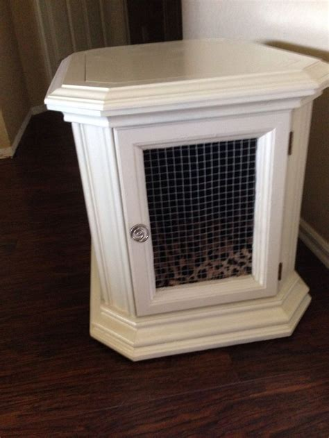 how to diy making a dog crate into an end with an