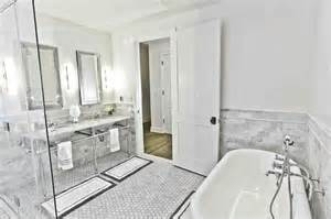 italian marble transitional bathroom