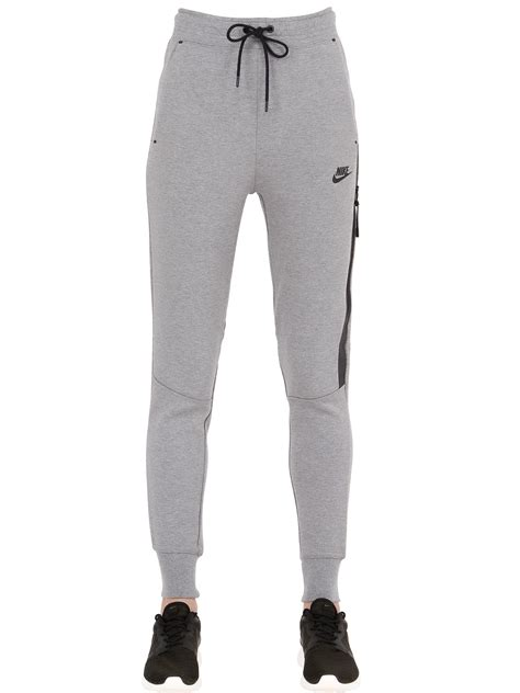 Joger Nike Original Asli Grey nike logo cotton blend in gray for lyst
