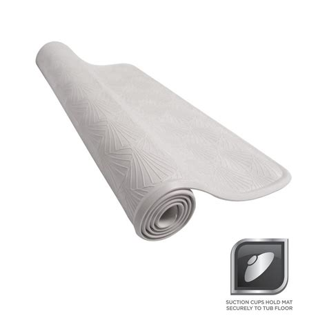 rubber bathtub glacier bay 15 5 in x 27 5 in rubber bath mat in white